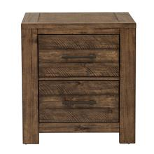 See Details - S290-050  Nightstand with Two Drawers and Distressed Finish - Dakota