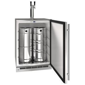 "U-Line24"" Keg Refrgierator With Stainless Solid Finish (115 V/60 Hz Volts /60 Hz Hz)"