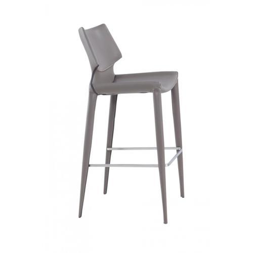 VIG Furniture - Modrest Hayes Modern Grey Eco-Leather Bar Stool (Set of 2)