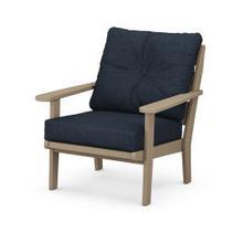View Product - Lakeside Deep Seating Chair in Vintage Sahara / Marine Indigo