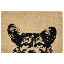 Doormat Earnest Dog Black 24x36