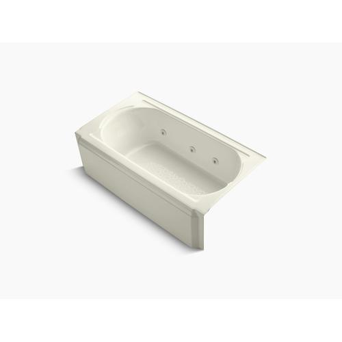 """Biscuit 60"""" X 34"""" Alcove Whirlpool With Right-hand Drain and Heater Without Jet Trim"""