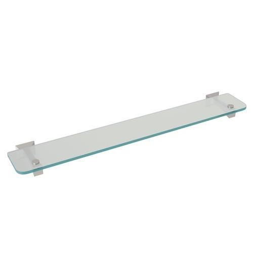 Satin Nickel Vincent Wall Mount Glass Vanity Shelf