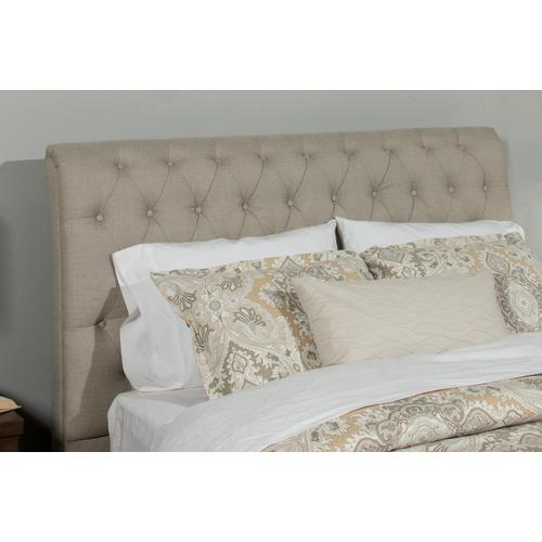 Napleton King Bed - Linen Sandstone