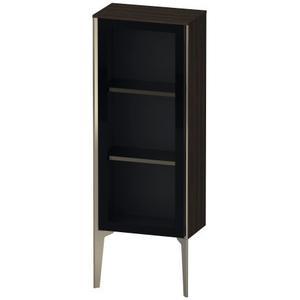 Duravit - Semi-tall Cabinet With Mirror Door Floorstanding, Brushed Walnut (real Wood Veneer)
