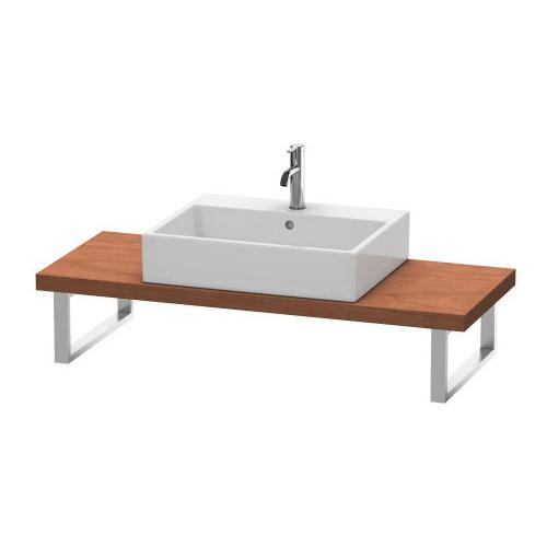 Console For Above-counter Basin And Vanity Basin Compact, American Walnut (real Wood Veneer)