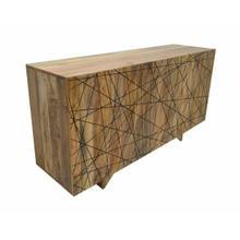 ACME Duchess Console Table - 90554 - Rustic - Metal, Wood (Mango) - Natural and Dark Walnut