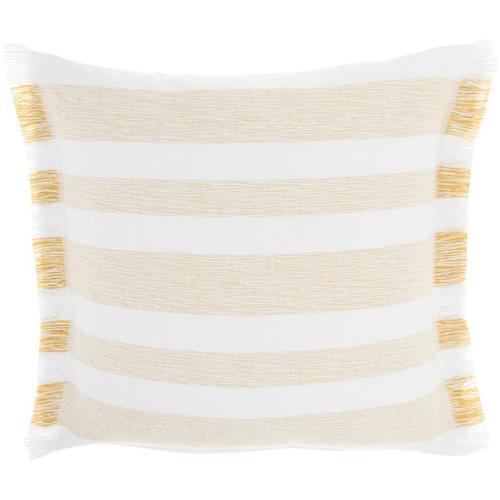 "Life Styles Ss919 Yellow 18"" X 18"" Throw Pillow"
