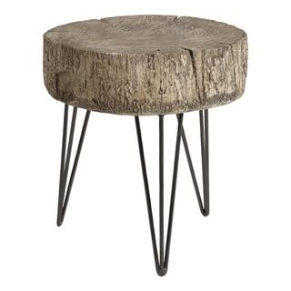 Cambria Accent Table Antique Silver