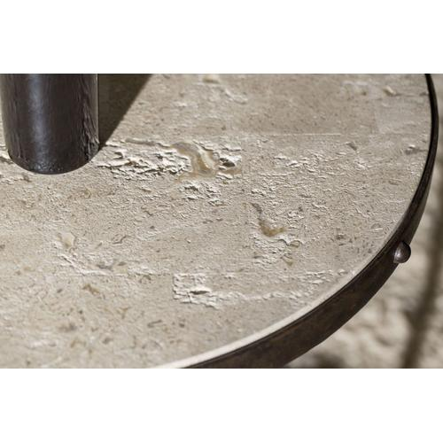 Living Room Luckenbach Metal and Stone End Table