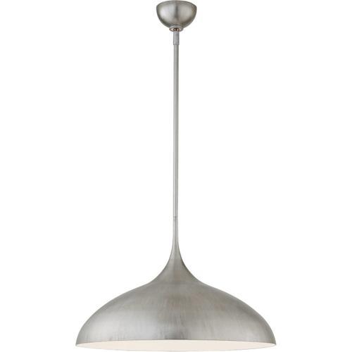 Visual Comfort - AERIN Agnes 1 Light 21 inch Burnished Silver Leaf Pendant Ceiling Light, Large