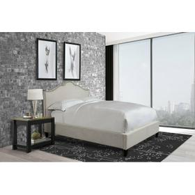 JAMIE - FLOUR Upholstered Bed Collection (Natural)