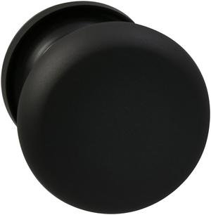 Interior Traditional Knob Latchset in (US10B Black, Oil-Rubbed, Lacquered) Product Image