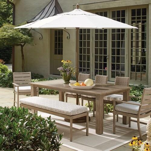 Bassett Furniture - Aluminum Farm Tables Rectangular Dining Table