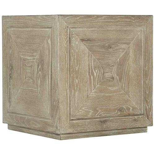Rustic Patina Cube Table in Sand (387)