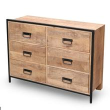 See Details - Drawer Chest - Natural/Iron Finish