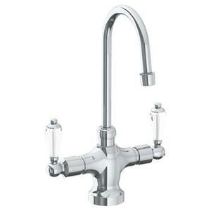 "Deck Mounted 1 Hole Kitchen Faucet With 4 1/2"" Spout Product Image"
