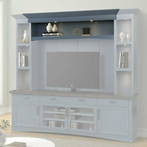 AMERICANA MODERN - DENIM Hutch Bridge with LED light