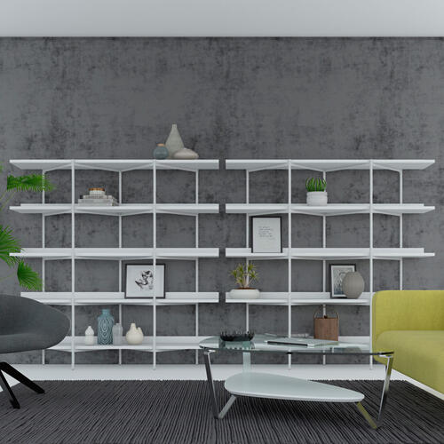 Shelving System 5305 in Toasted Walnut Black