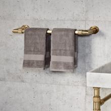 See Details - Elemental Accessories Towel Bar / Aged Brass Unlaquered