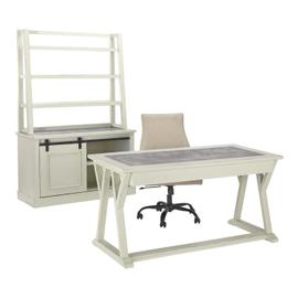 Jonileene - White/Gray 3 Piece Home Office Set