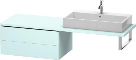 Low Cabinet For Console, Light Blue Matte (decor)
