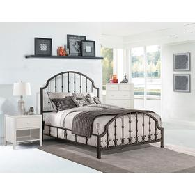 Westgate King Bed With Frame - Rustic Black
