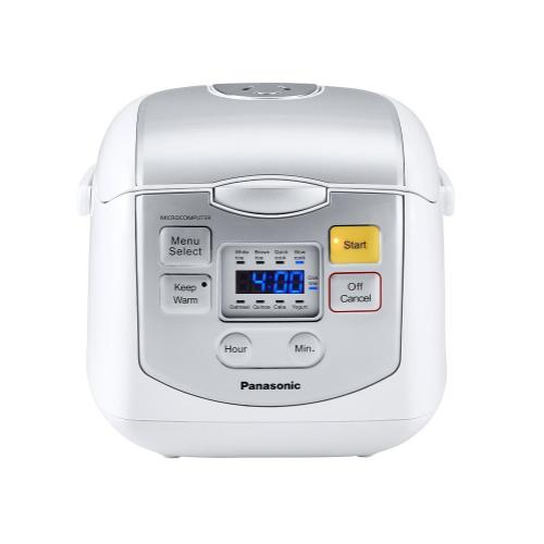 4 Cup (uncooked) Microcomputer Controlled Rice Cooker - White / Silver - SR-ZC075W