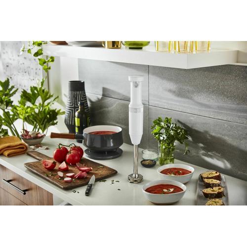 KitchenAid Canada - Cordless Variable Speed Hand Blender - White