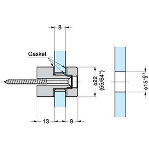 Pointfix 22 Glass Standoff