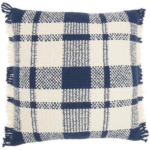 "Kathy Ireland Pillow Sh300 Navy 20"" X 20"" Throw Pillow"