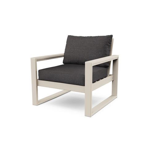 Sand & Ash Charcoal EDGE Club Chair