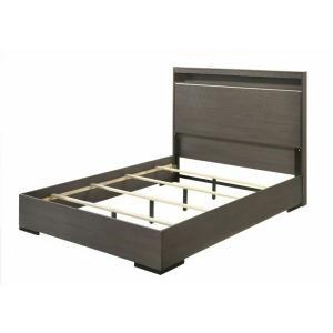 ACME Escher Eastern King Bed, LED & Gray Oak - 27647EK