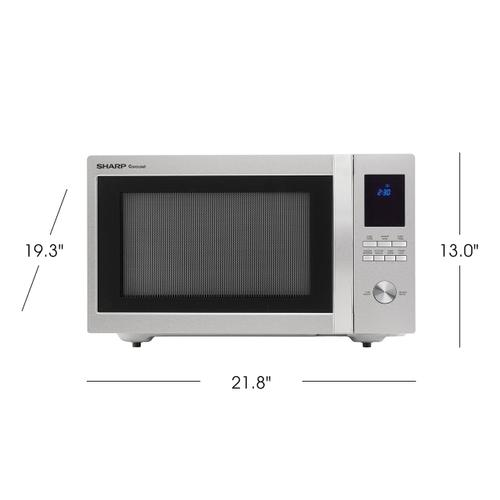 Sharp - 1.6 cu. ft. 1100W Sharp Stainless Steel Carousel Countertop Microwave Oven