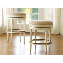 Carmel Bar Stool-Swivel-Backless-W/ Brass Protectors