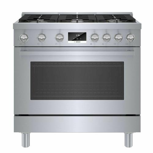 Bosch - 800 Series Gas Freestanding Range 36'' Stainless Steel HGS8655UC