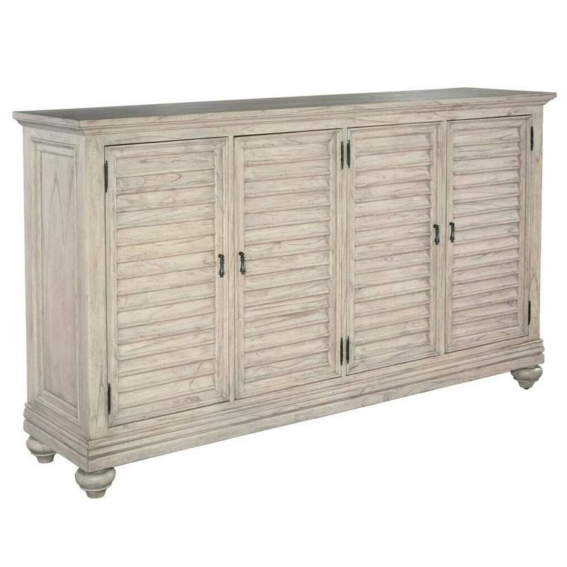 1-2250LN Homestead Louvered Door Entertainment Center