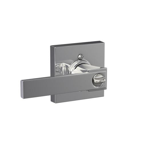 Northbrook lever with Collins trim Keyed Entry lock - Bright Chrome