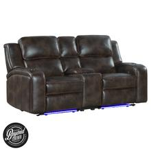 Silhouette Dual-Power Loveseat  Bolero Coffee
