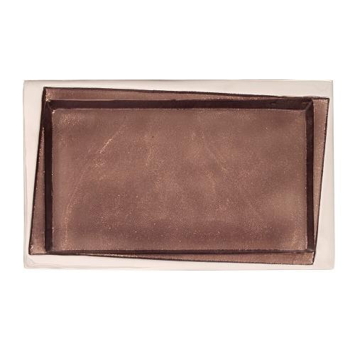 Howard Elliott - Rectangular Metal Tray in Smokey Bronze