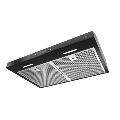Broan® 36-Inch Convertible Under-Cabinet Range Hood w/ Heat Sentry®, 400 CFM, Black