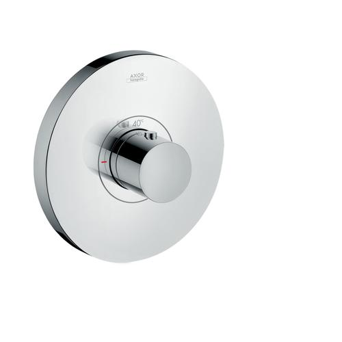Polished Black Chrome Thermostat HighFlow for concealed installation round
