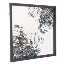 Square Mirror Antique Blue