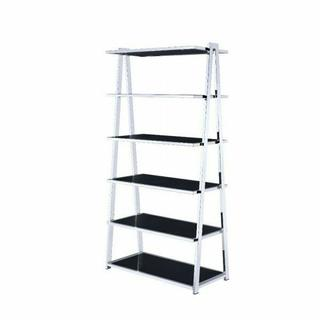 ACME Coleen Bookshelf - 92451 - Black High Gloss & Chrome