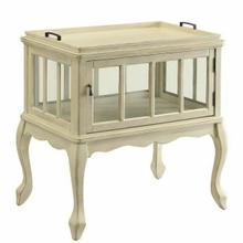 ACME Fidelia Console Table & Tray - 97188 - Antique White