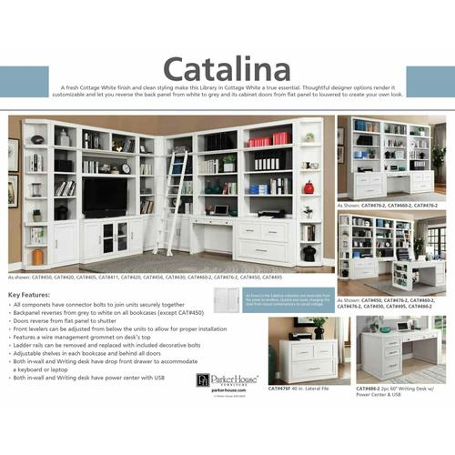 Parker House - CATALINA Two piece 40 in. Lateral File and Hutch