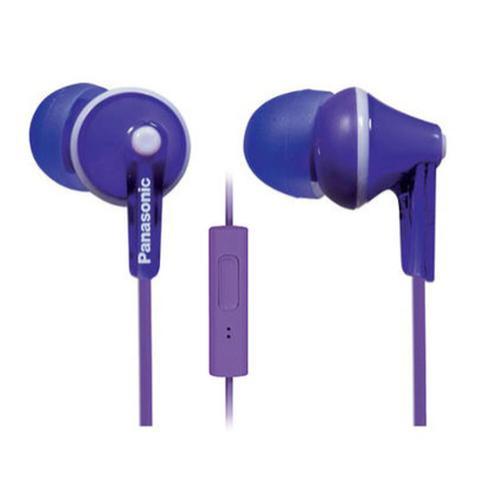 ErgoFit In-Ear Earbud Headphones with Mic + Controller - Violet - RP-TCM125-V