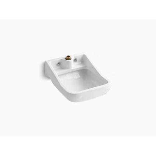 White Wall-mounted Blow-out Service Sink