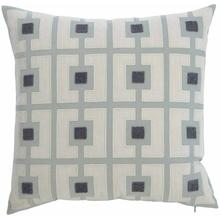 "Luxe Pillows Boucle Embroidered Squares (22"" x 22"")"