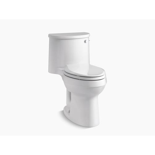 Kohler - Biscuit One-piece Elongated 1.28 Gpf Chair-height Toilet With Right-hand Trip Lever, and Quiet-close(tm) Seat